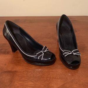 Aerosoles Navy Blue Patent Leather High Heels